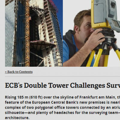 """ECB's Double Tower Challenges Surveyors"""